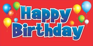 Muestra 1 del fondo del feliz cumpleaños ilustración del vector
