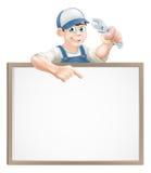 Muestra del fontanero o del mecánico Imágenes de archivo libres de regalías