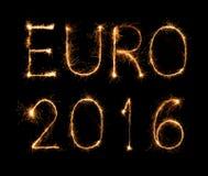 Muestra del fuego artificial del euro 2016 del fútbol Fotos de archivo libres de regalías