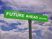 Muestra del futuro a continuación Foto de archivo libre de regalías