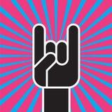 Muestra del gesto de mano de los cuernos libre illustration