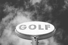 Muestra del golf del vintage Fotografía de archivo libre de regalías