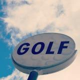 Muestra del golf del vintage Fotografía de archivo