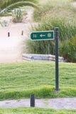Muestra del golf en el campo de golf Imagen de archivo