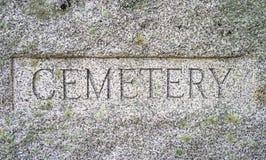 Muestra del granito del cementerio foto de archivo libre de regalías