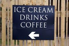 Muestra del helado, de las bebidas, y del café Fotos de archivo libres de regalías