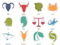 Muestra del horóscopo o del zodiaco Imagen de archivo libre de regalías