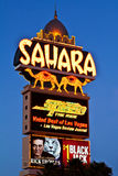 Muestra del Hotel-Casino de Sáhara la tira de Las Vegas Imágenes de archivo libres de regalías