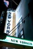 Muestra del hotel del neoyorquino fotos de archivo libres de regalías
