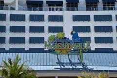 Muestra del hotel turístico de Margaritaville fotos de archivo