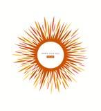 Muestra del icono de Sun Fotografía de archivo libre de regalías