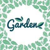 Muestra del jardín con las hojas Fotografía de archivo libre de regalías