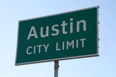 Muestra del límite de ciudad de Austin Foto de archivo libre de regalías