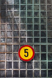 Muestra del límite de velocidad fotos de archivo libres de regalías