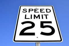Muestra del límite de velocidad Foto de archivo libre de regalías