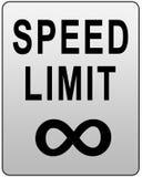 Muestra del límite de velocidad stock de ilustración
