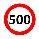 Muestra del límite de velocidad para 500 stock de ilustración