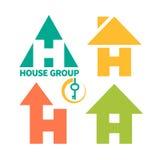 Muestra del logotipo de la empresa de la construcción Foto de archivo libre de regalías