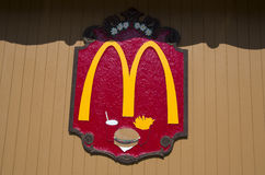 Muestra del logotipo de Mcdonald Imágenes de archivo libres de regalías