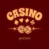 Muestra del logotipo del casino Imagen de archivo