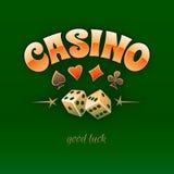 Muestra del logotipo del casino Fotografía de archivo libre de regalías