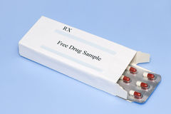 Muestra del medicamento sin receta Imagen de archivo libre de regalías