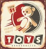 Muestra del metal de la tienda de juguete del vintage Fotos de archivo libres de regalías