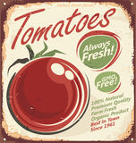Muestra del metal del vintage de los tomates Imagen de archivo libre de regalías