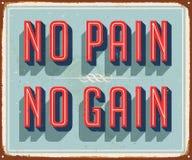 Muestra del metal del vector del vintage - ningún dolor ningún aumento libre illustration