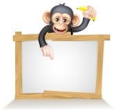 Muestra del mono del chimpancé de la historieta Fotos de archivo libres de regalías