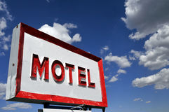Muestra del motel Imágenes de archivo libres de regalías