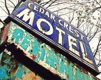 Muestra del motel Fotos de archivo libres de regalías