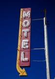 Muestra del motel del vintage imagenes de archivo