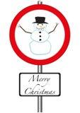 Muestra del muñeco de nieve a continuación stock de ilustración