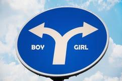 Muestra del muchacho y de la muchacha Imagen de archivo