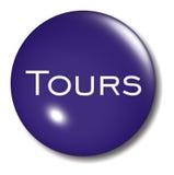 Muestra del orbe del botón de los viajes Imagenes de archivo