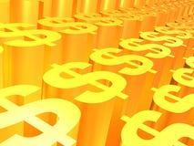 Muestra del oro del dólar Foto de archivo