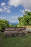 Muestra del parque nacional de Islas Vírgenes Imagen de archivo
