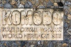 Muestra del parque nacional de Komodo, Indonesia imagen de archivo libre de regalías