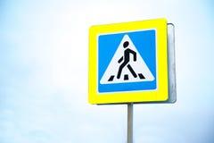 Muestra del paso de peatones imagen de archivo