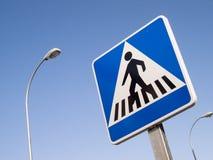 Muestra del paso de peatones Fotografía de archivo libre de regalías
