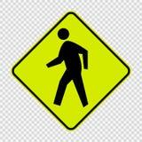 Muestra del paso de peatones en fondo transparente ilustración del vector