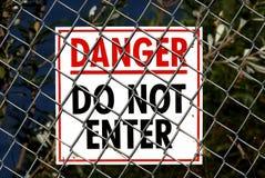 Muestra del peligro Fotografía de archivo libre de regalías