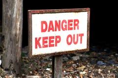 Muestra del peligro. Imagen de archivo libre de regalías