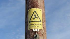 Muestra del peligro Fotos de archivo