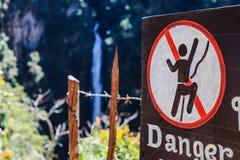 Muestra del peligro Foto de archivo