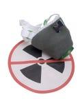 Muestra del peligro de la radiación Fotos de archivo libres de regalías