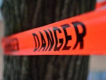 Muestra del peligro en el papeleo Foto de archivo libre de regalías
