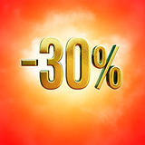 Muestra del 30 por ciento Imagenes de archivo