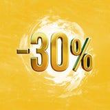 Muestra del 30 por ciento Imagen de archivo